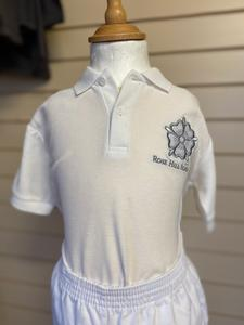 White PE Polo Shirt